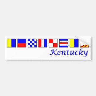 Kentucky spelled in nautical flag alphabet bumper sticker