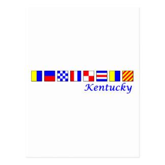 Kentucky spelled in nautical flag alphabet postcard