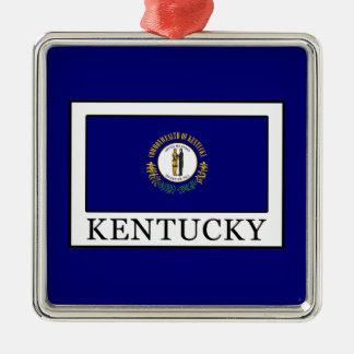 Kentucky Square Metal Christmas Ornament