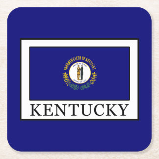 Kentucky Square Paper Coaster