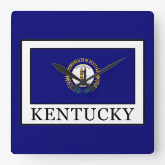 Kentucky Square Wall Clock