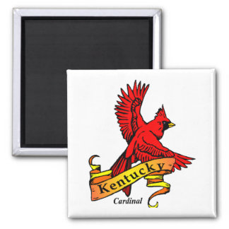 Kentucky State Bird 2 Inch Square Magnet