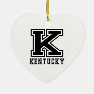 Kentucky State Designs Christmas Tree Ornament