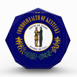 Kentucky State Flag Acrylic Award