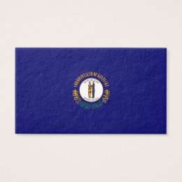 Kentucky State Flag Design Business Card