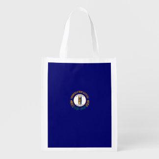 Kentucky State Flag Design Grocery Bag