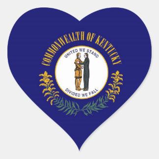 Kentucky State Flag Heart Sticker