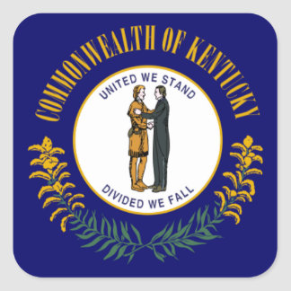 Kentucky State Flag Square Sticker