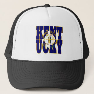 Kentucky state flag text trucker hat