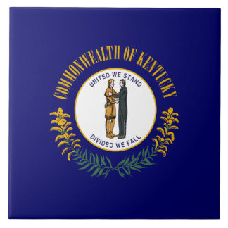 Kentucky State Flag Large Square Tile
