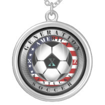 Kentucky State Generation X American Soccer Silver Plated Necklace