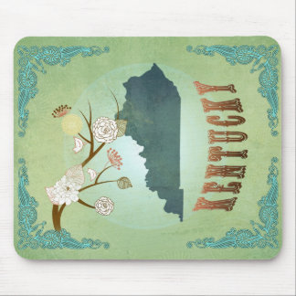 Kentucky State Map – Green Mouse Pad