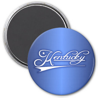 Kentucky State of Mine 3 Inch Round Magnet