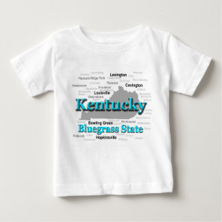 Kentucky State Pride Map Silhouette Baby T-Shirt
