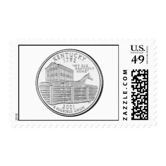 Kentucky State Quarter Postage Stamps