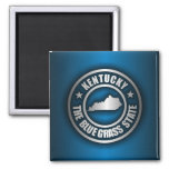"""""""Kentucky Steel (Blue)"""" 2 Inch Square Magnet"""