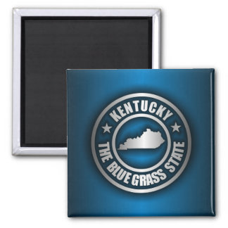 """Kentucky Steel (Blue)"" 2 Inch Square Magnet"