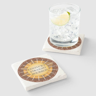 Kentucky Straight Bourbon Whisky Marble Coaster Stone Beverage Coaster