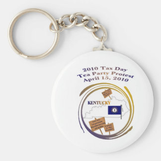 Kentucky Tax Day Tea Party Protest Key Ring