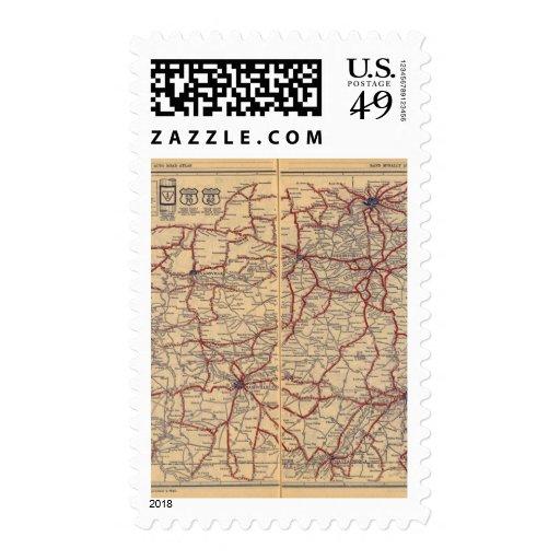 Kentucky, Tennessee 3 Timbre Postal