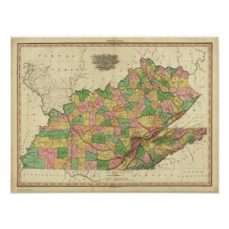 Kentucky, Tennessee and part of Illinois Poster