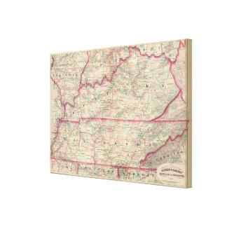 Kentucky, Tennessee Canvas Print