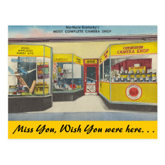 Kentucky, tienda de la cámara de Covington Tarjeta Postal