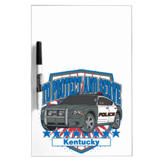 Kentucky To Protect and Serve Police Squad Car Dry Erase Board