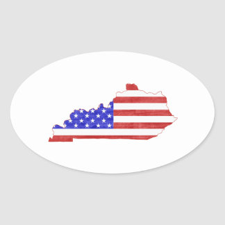 Kentucky USA silhouette state map Oval Sticker