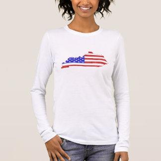 Kentucky USA silhouette state map Women's Long Sleeve T-Shirt