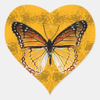 Kentucky Viceroy Butterfly Heart Sticker