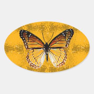 Kentucky Viceroy Butterfly Oval Sticker