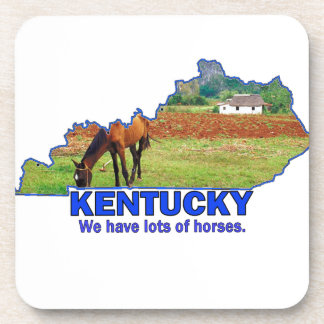 Kentucky, We Have Lots of Horses Beverage Coasters