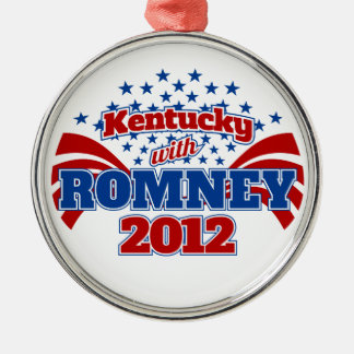 Kentucky with Romney 2012 Metal Ornament