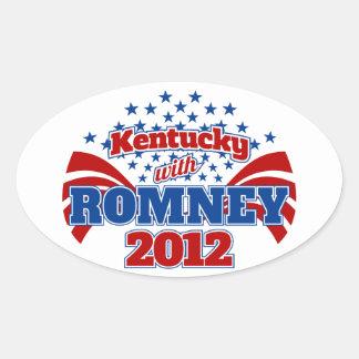 Kentucky with Romney 2012 Oval Sticker