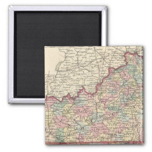 Kentucky y Tennessee 2 Imán Cuadrado