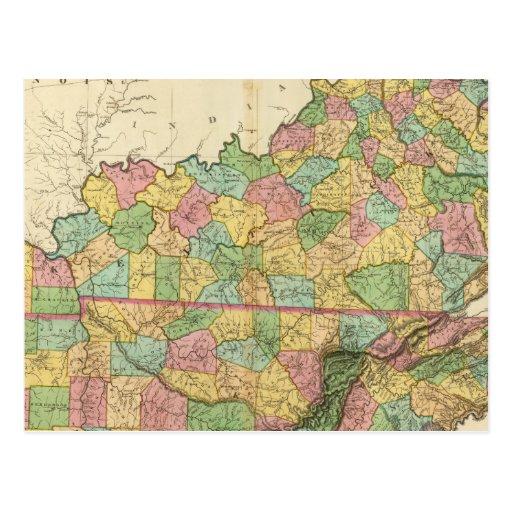 Kentucky y Tennessee 6 Tarjetas Postales