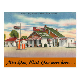 Kentucky, Ye Olde Dog House, Horse Cave Postcard