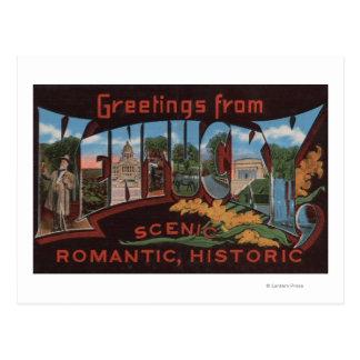 KentuckyLarge Letter ScenesKentucky 2 Postcard
