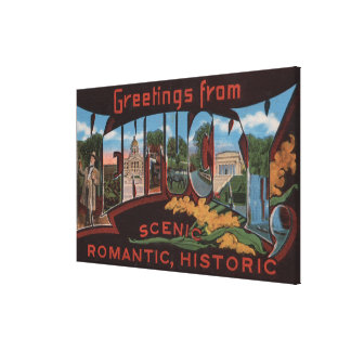 KentuckyLarge Letter ScenesKentucky 3 Stretched Canvas Print