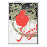 Kenwood Bicycles Art Nouveau Greeting Card