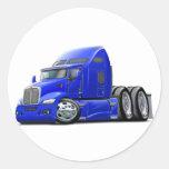 Kenworth 660 Blue Truck Round Stickers