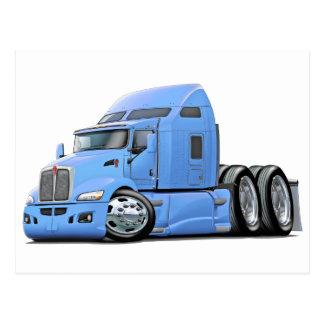 Kenworth 660 Lt Blue Truck Postcard