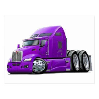 Kenworth 660 Purple Truck Postcard