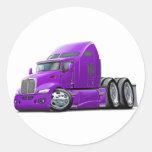 Kenworth 660 Purple Truck Stickers