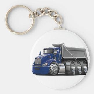 Kenworth T440 Dk Blue-Grey Truck Keychain