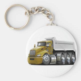 Kenworth T440 Gold-White Truck Keychain