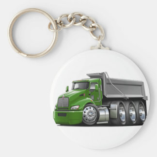 Kenworth T440 Green-Grey Truck Keychain