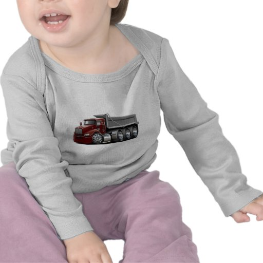 Kenworth T440 Maroon-Grey Truck T-shirts
