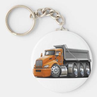 Kenworth T440 Orange-Grey Truck Keychain